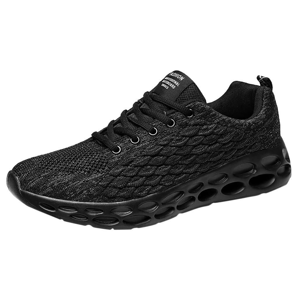 Londony ✡ Men's Lightweight Athletic Running Shoes Breathable Sport Air Fitness Gym Jogging Sneakers Air Cushion Sneaker Black