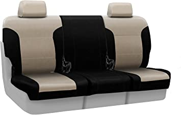 Taupe Premium Leatherette Coverking Custom Seat Cover for Select Ford Bronco Full Size Models