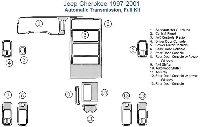Amazon.com: Jeep Cherokee Full Dash Trim Kit, Automatic ... on