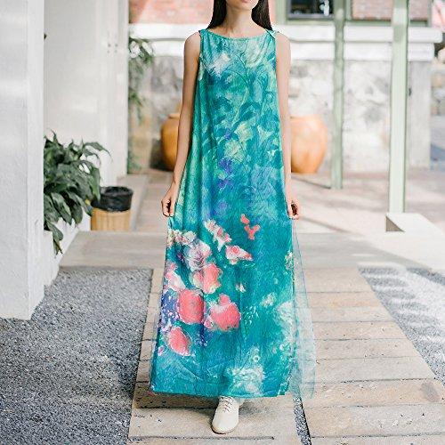 Delgada Una Mujer De Sin XIU De Un green Delgados Mangas Vestir Chaleco Camiseta RONG 7pnFwZqR