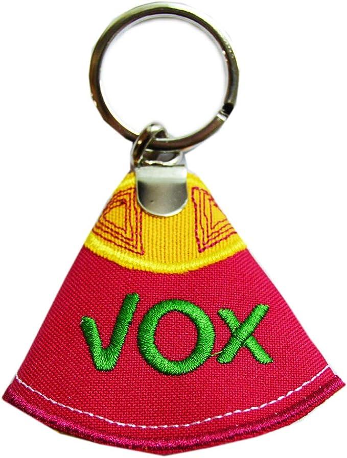Llavero Capote VOX. con Las Letras VOX Bordadas. Medida: 9cm: Amazon.es: Equipaje