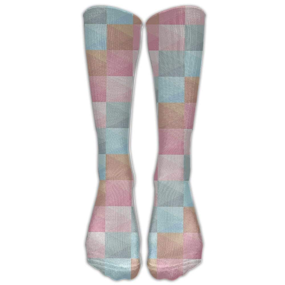 NEW Color Lattice Compression Socks Soccer Socks Knee High Socks For Running, Medical, Athletic, Edema, Diabetic, Varicose Veins, Travel, Pregnancy, Shin Splints, Nursing