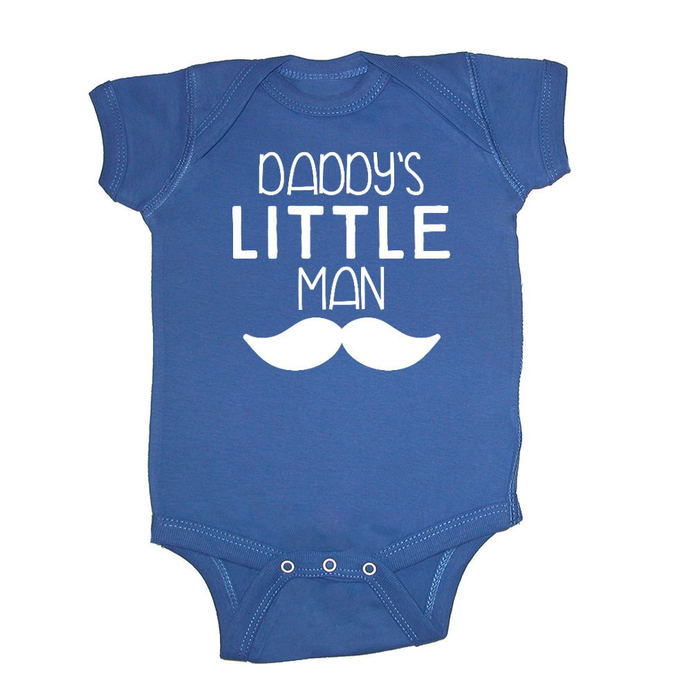 afcff8c608bb Amazon.com  Mashed Clothing - Daddy s Little Man (Mustache) - Daddy Gift  Father s Day - Baby Bodysuit  Clothing