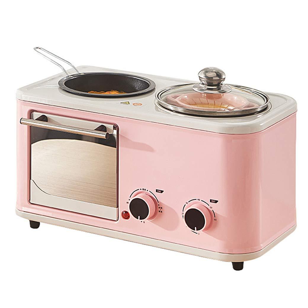 NOKUN Home Multi-Function Chinese Breakfast Electric Oven Toaster Oven Fried Egg Roast Steamed Milk Breakfast Bar, Regular, Pink by NOKUN
