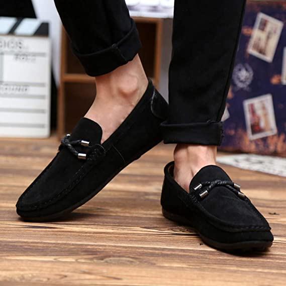 Amazon.com: Big Teresamoon Fashion Suede Beanie Shoes Lazy Mens Shoes Driving Shoes Single Shoes: Home Audio & Theater