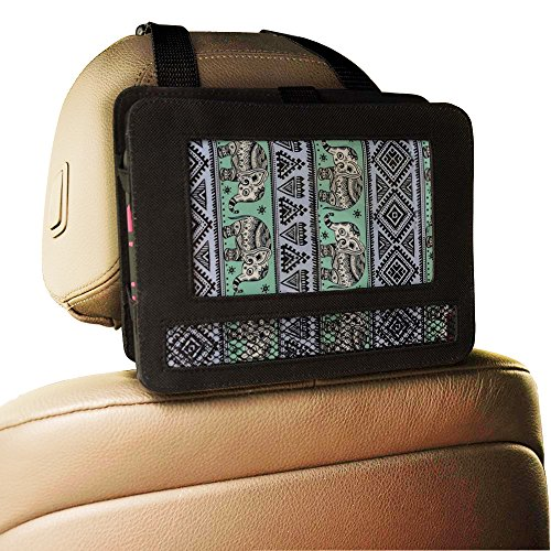 CycleMore New Car headrest mount strap holder case for 7″inch portable DVD player