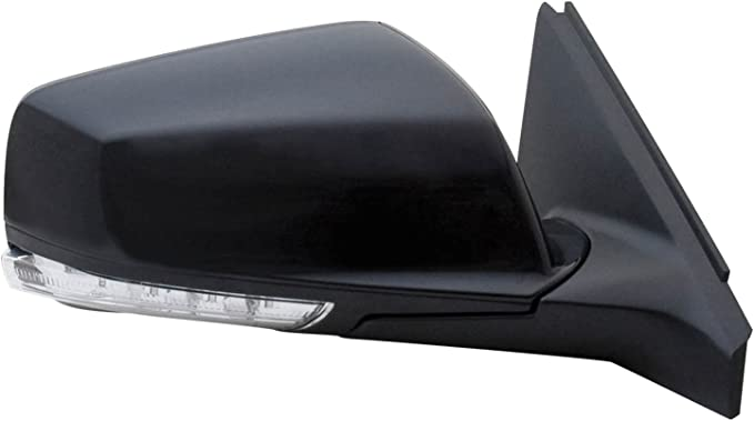 Fit System 63039H Acura MDX Passenger Side OE Style Heated Power Replacement Mirror with Turn Signal Memory and Blue Lens