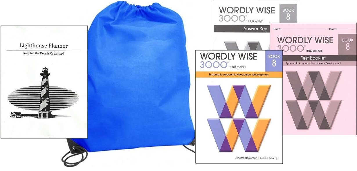 Read Online Wordly Wise 3000 Grade 8 SET homeschool kit in a bag pdf epub