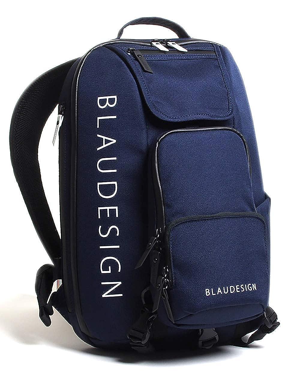 【ブラウデザイン】 BLAUDESIGN City Tourist 3WAYバックパック 旅行 メンズ 多機能バッグ リュックサック 通勤バックパック ボディバッグ  ネイビー/ホワイト B07G45C69S