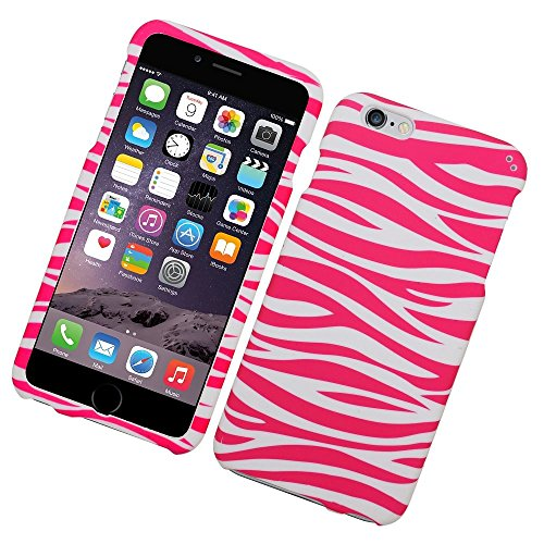 iPhone 6 Plus/6s Plus Case, Insten Zebra Rubberized Hard Snap-in Case Cover For Apple iPhone 6 Plus/6s Plus, Pink/White