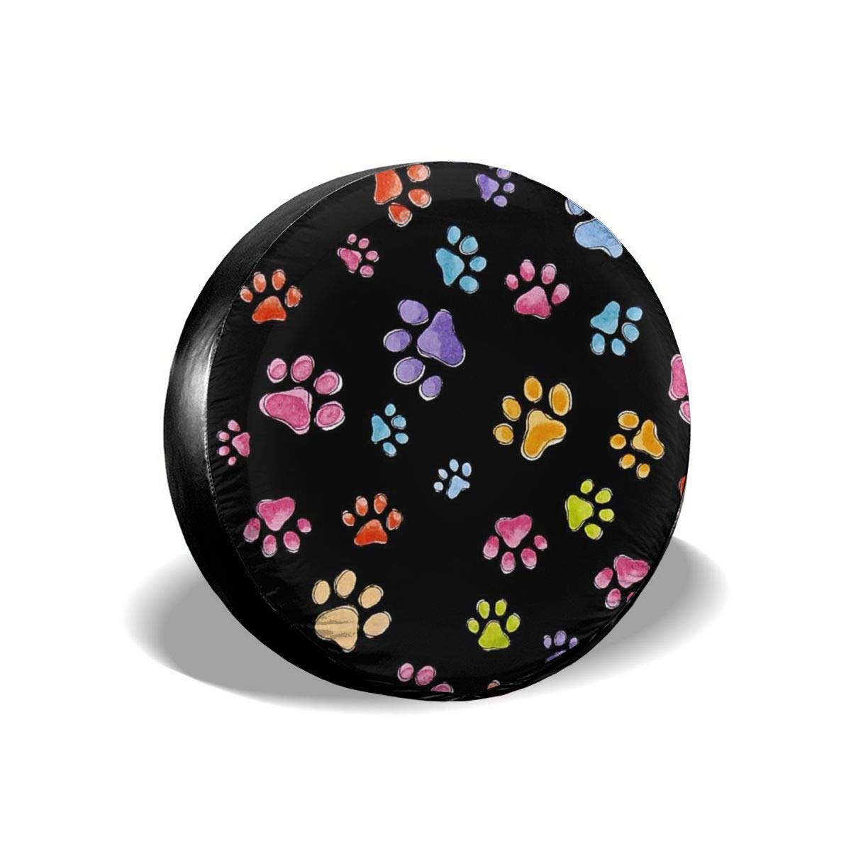 Dog Went Pawful Paws Tire Covers Tire Sun Protectors Truck Wheel Cover Tire Diameters 14,15,16,17 Inch