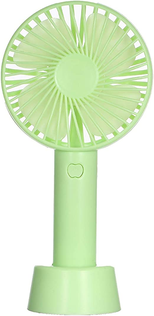 Colorful Sunlight Portable Mini Handheld Fan with StCradle USB Wind Blower ventilateur Indoor Outdoor Fan for Laptop Computer,Green