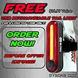 Blitzu-Gator-320-PRO-USB-Rechargeable-Bike-Light-Set-POWERFUL-Lumens-Bicycle-Headlight-FREE-TAIL-LIGHT-LED-Front-and-Back-Rear-Lights-Easy-To-Install-for-Kids-Men-Women-Road-Cycling-Safety-Flashlight