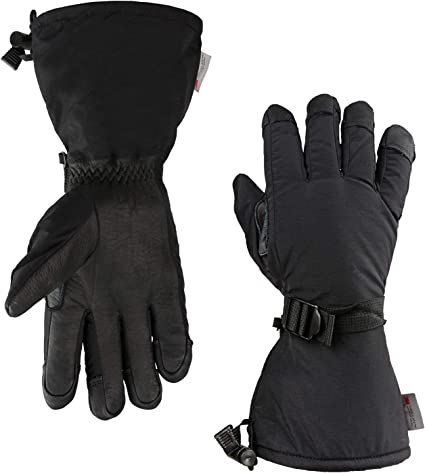 Kids Ski Gloves Winter Gloves Blue Grey Yellow L-XL