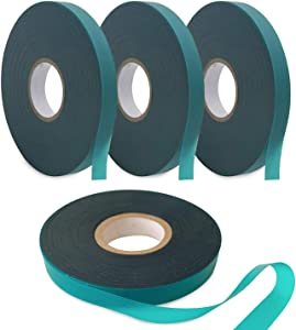 Coobbar Stretch Tie Tape, 0.5 Inch Wide Stretch Tie Tape Garden Tie Tape Thick Plant Ribbon Garden Green Vinyl Stake for Indoor Outdoor Patio Plant Use (600 Feet)