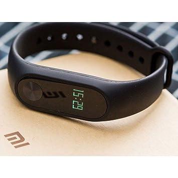 Xiaomi Mi Band 2 Pulsera rastreadora de Actividad, con Monitor de frecuencia cardíaca OLED; Resistente al Agua, Negro