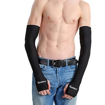 Manguito de compresión brazo protección solar Unisex manguitos anti UV refrigeración mango de brazo antidérapage anticollision