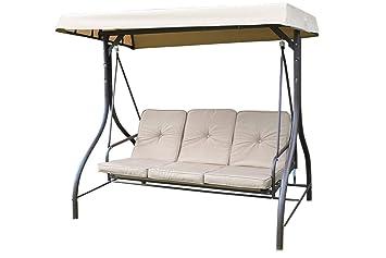 Luxury Heavy Duty Garden 3 Seater Swing Seat Hammock Bed Complete