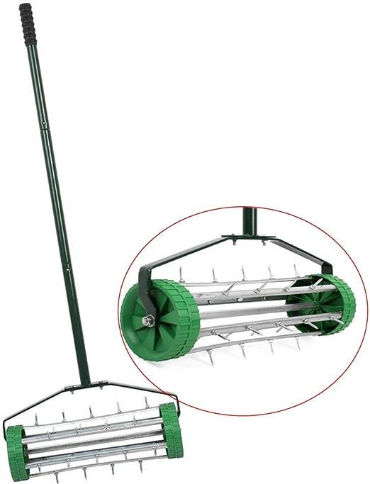 femor easy-rolling aireador de césped heavy duty jardín césped rodillo del suelo fertilize mano empuje junto: Amazon.es: Jardín