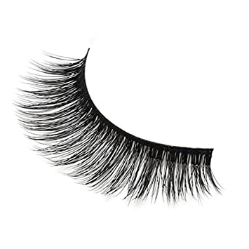 0f62f52e449 Amazon.com : 3D Mink Lashes - Mink Eyelashes Natural Reusable False Mink  Lashes Strip 3 Pairs Package (1Pair) : Beauty