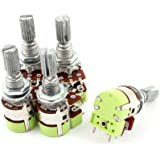 5pcs Stereo B20K 20K Ohm Dual Linear Taper Potentiometer Switch