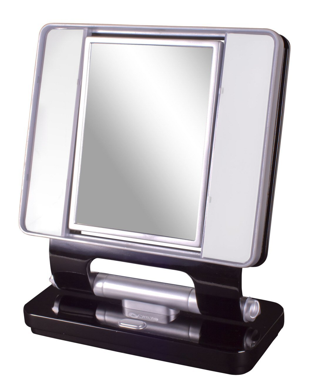 Ottlite Natural Daylight Makeup Mirror 5x 1x Magnification 26w Dual Sided- Black