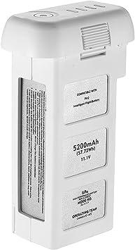 Powerextra 11.1V 5200mAh 10C LiPo Intelligent Flight Battery Replacement for DJI Phantom 2, Phantom 2 Vision and Phantom 2 Vision Plus Upgraded