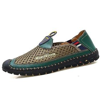 YAN Zapatos de Hombre Mocasines de Tela de Malla y Slip-on Zapatos Transpirables y