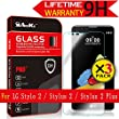 LG Stylo 2 / Stylus 2 / Stylus 2 Plus Glass Screen Protector, (L82VL L81VL K540 K520)[3 Pack] AnoKe(0.3mm 9H 2.5D) Tempered Glass Screen Protector Shield For LG LS775 Glass-3Pack