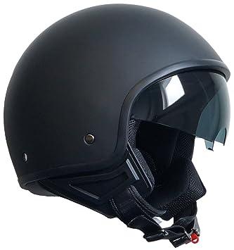 RALLOX Helmets - Casco de moto Jet Abierto Scooter Negro mate Rallox 247 (S M L XL