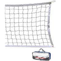 FUTISKY Volleyball Net 32 FT x 3 FT Beach Ball Net Portable Official Standard Size Indoor Outdoor Sports Training Equipment/Without Frame