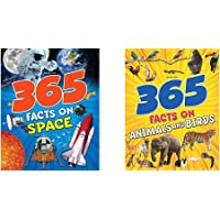 365 Facts On Space + 365 Facts On Animals And Birds (Set of 2 Books)