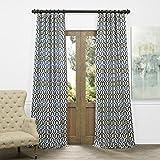 HPD HALF PRICE DRAPES JQCH-AS223939-84 Faux Silk Jacquard Curtain, Cascade Blue, 50″ x 84″ Review