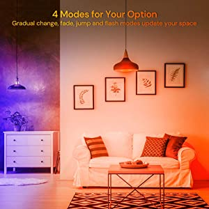 Govee RGBW LED Light Bulbs, 100W Equivalent 1000lm Color Changing Light Bulb with Remote, Dimmable Multicolor Decorative LED Bulbs for Home, Stage, Party, Warm White 2700K, Cool White 6500K (2 Pack) (Color: Multi-colored, Tamaño: 2 Pack)