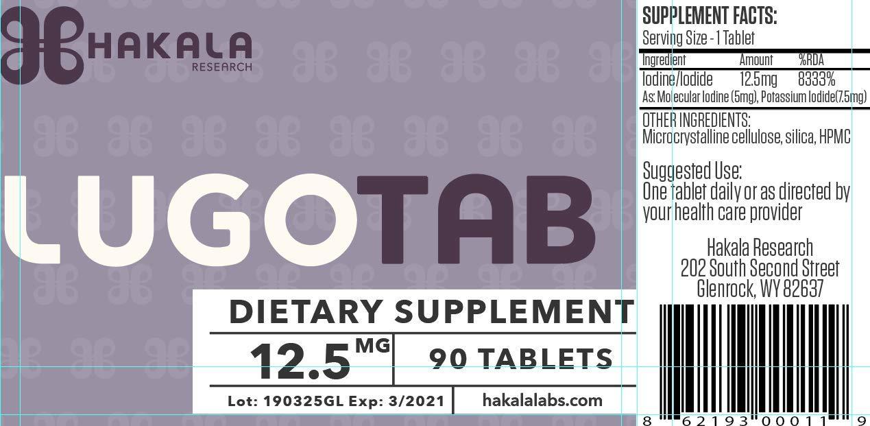 LugoTab 12.5 mg - 90 Tablets
