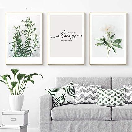 Shinering Feuille Plante Affiche Scandinave Style Nordique