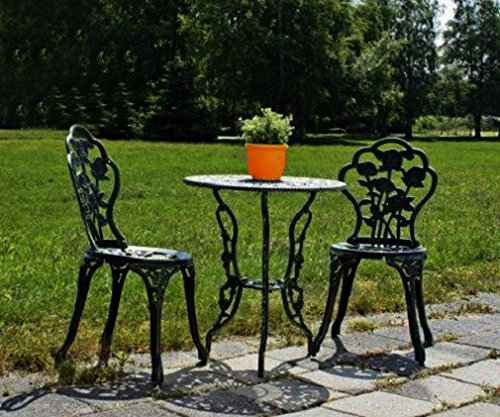 jardinion balkonset 3 teilig 1 tisch 2 st hle gr n design gartenm bel eisen aluminium. Black Bedroom Furniture Sets. Home Design Ideas