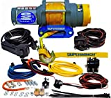 Superwinch 1145230 Terra 45 4500lbs/2046kg single line pull with hawse, handlebar mnt toggle, handheld remote, and synthetic rope