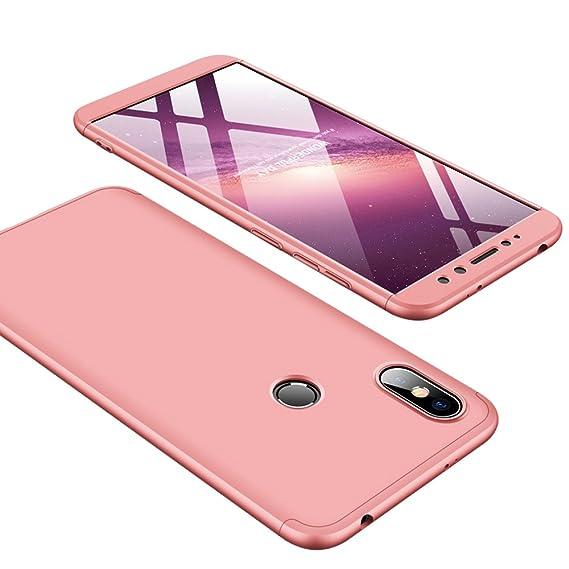 autentico c6071 eebb3 Xiaomi Redmi S2 Case, Ranyi [Full Body 3 Piece Cover] [Slim & Thin Fit  Tightly] [360 Degree Protection] Premium Hybrid Bumper 3 in 1 Electroplated  ...