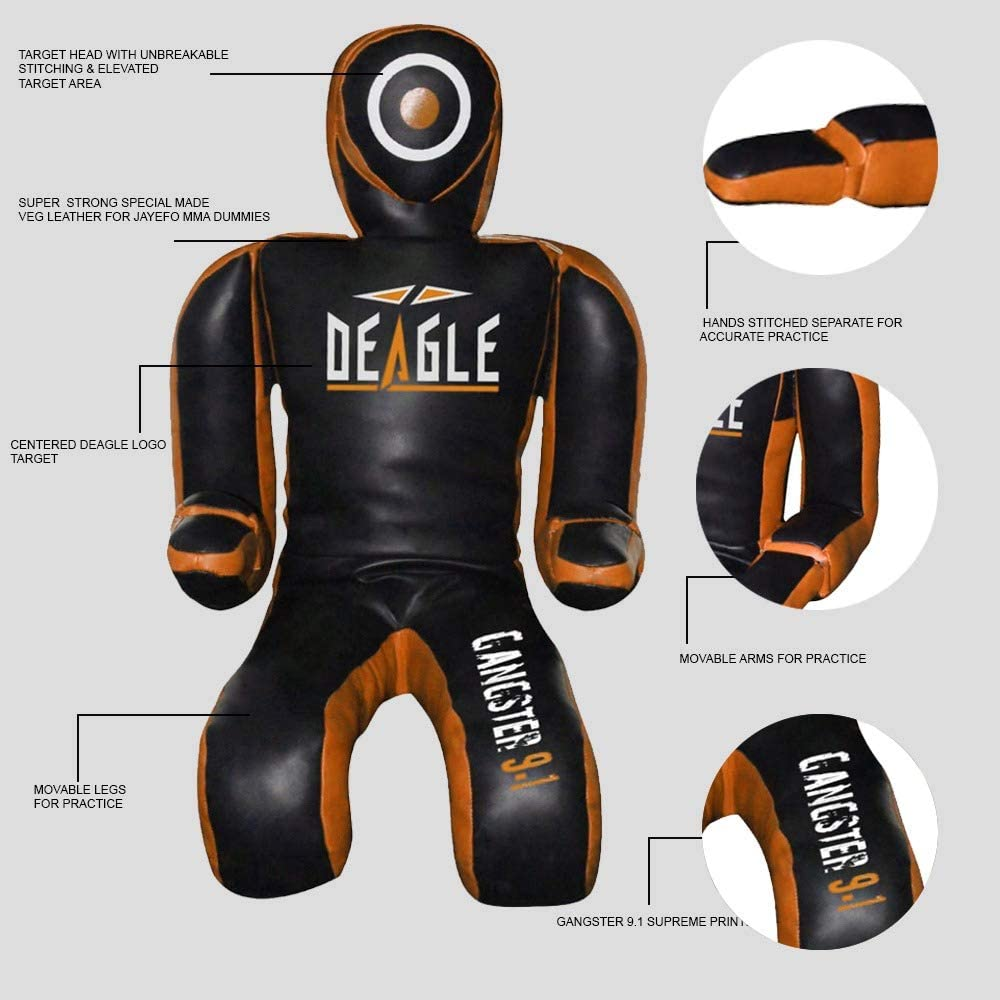 Deagle Gangster 9.1 Leather BJJ JIU Jitsu MMA Training Grappling Submission Dummy BJJ Practice