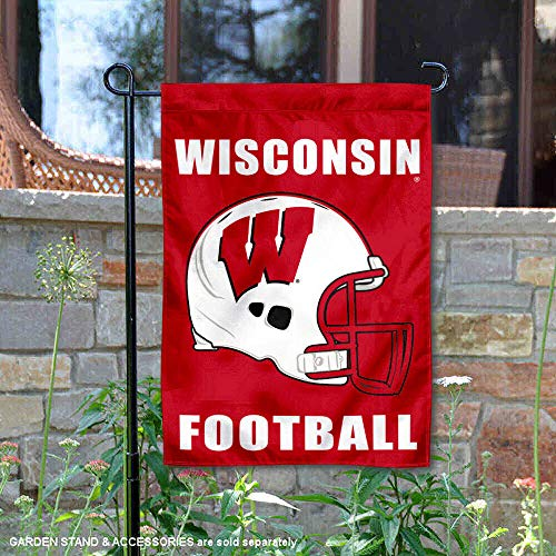 College Flags and Banners Co. University of Wisconsin Football Helmet Garden Flag