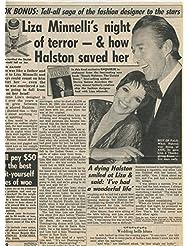 Liza Minnelli Halston original clipping magazine photo 1pg 9x12 #R2545