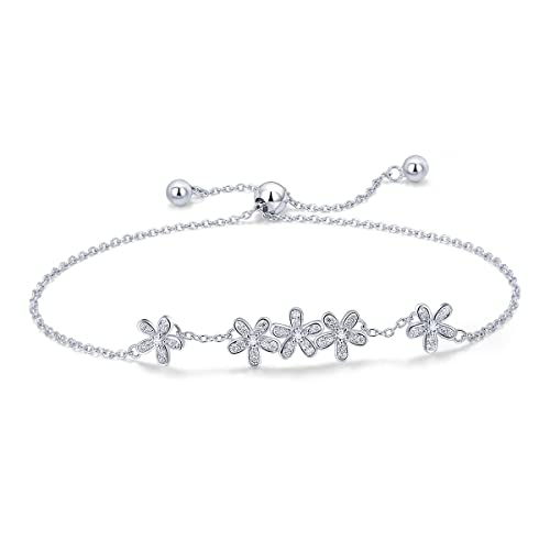 088e9dfd6 WOSTU Friendship Bracelets 925 Sterling Silver Link Bracelets for Women  Anniversary Birthday for Her
