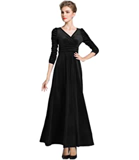 a0215c2c2c6 Urban CoCo Women s Elegant Long Sleeve Ruched Velvet Stretchy Long ...