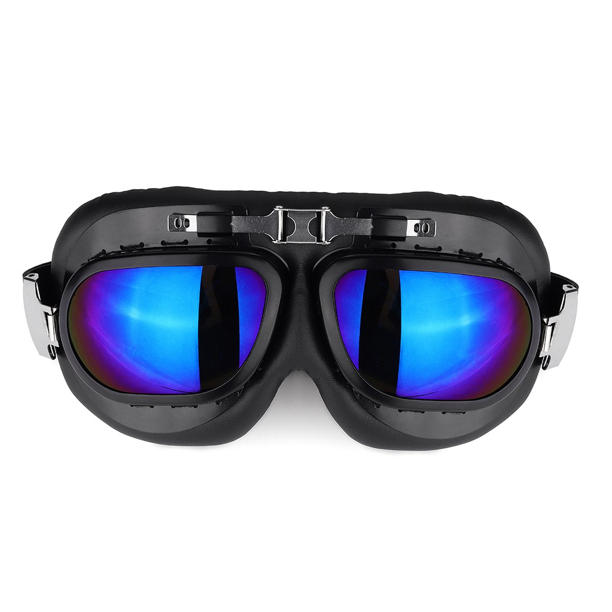 Amarillo Alamor Gafas De Motos Gafas Vintage Classic Gafas Retro Pilot Cruiser Steampunk UV Protecti