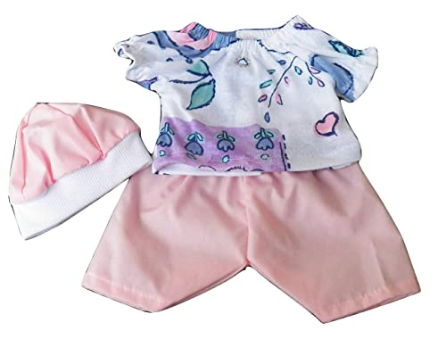 BABY ALIVE DOLL CLOTHES SHORT SET BITTY BABY lavender heart