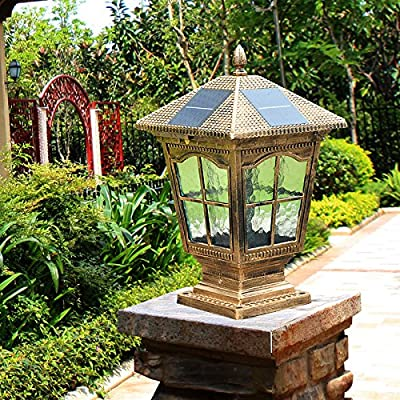 WWJ/ Fence post lights/wall lights/Villa garden light/gate home waterproof lamp/solar pillar lamp