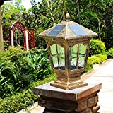 YZL/ Fence post lights/wall lights/Villa garden light/gate home waterproof lamp/solar pillar lamp