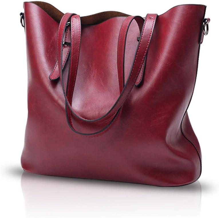 Nicole/&Doris New Women Shoulder Bag Simple Tote Handbag Ladies Messenger PU Leather Black