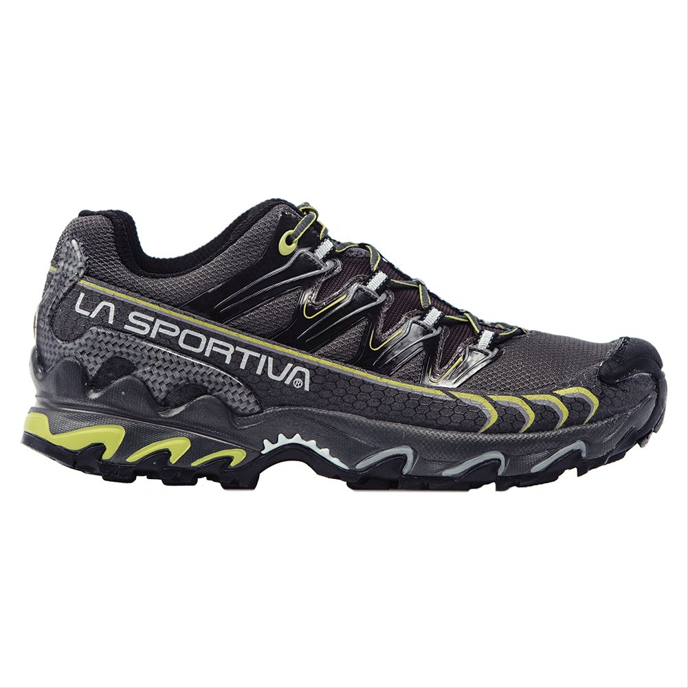 La Sportiva Men's Ultra Raptor GTX Trail Running Shoe, Grey / Green, 44 M EU
